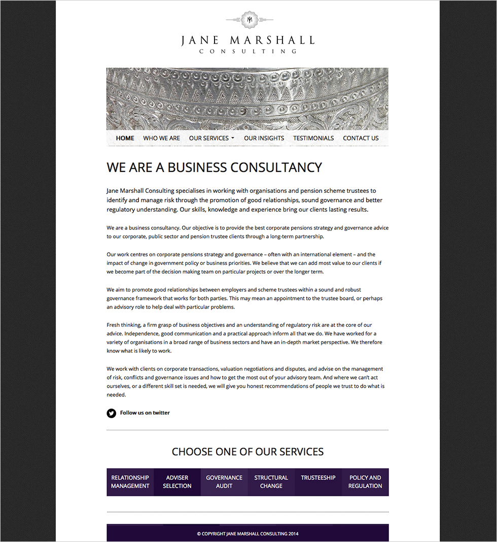 Jane Marshall Consulting Home page