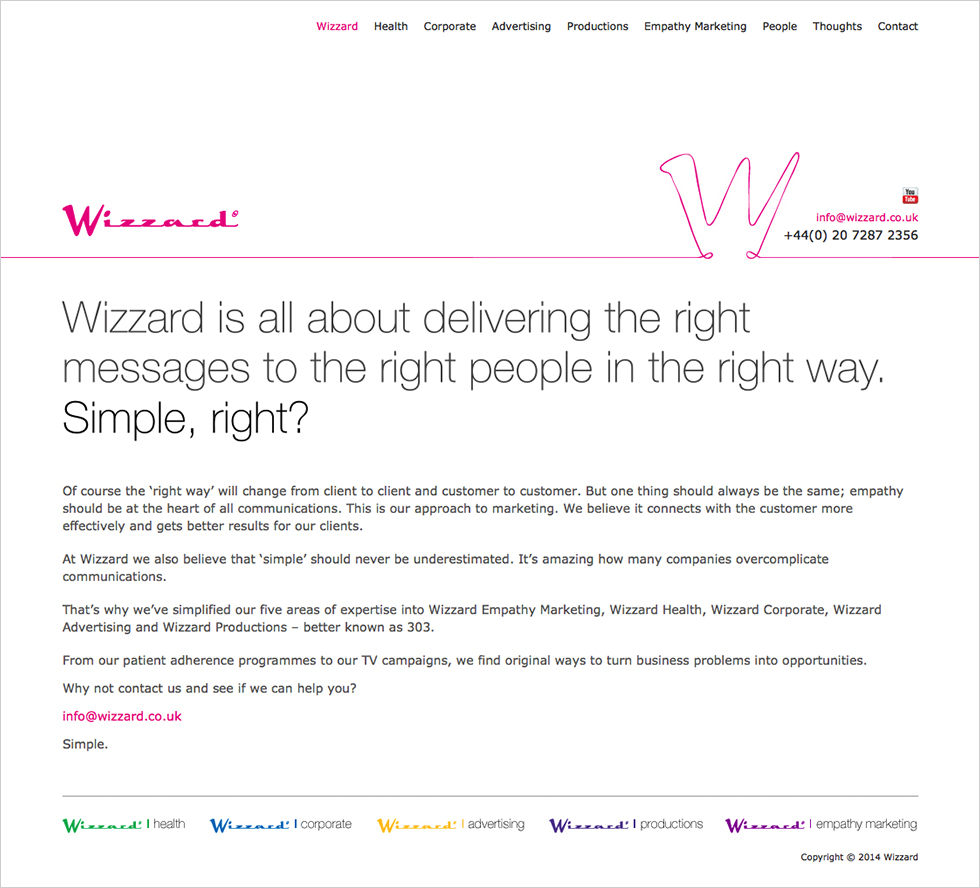The Wizzard home page