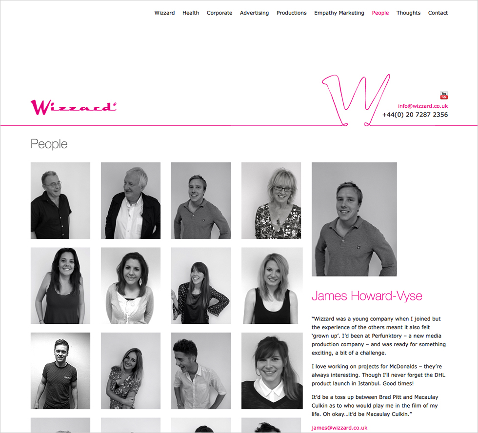 The Wizzard team page